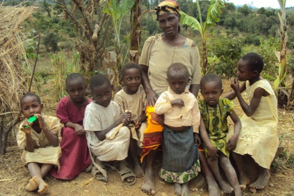 Grandmother and children in Tharaka Nithi